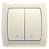 Выключатель управления жалюзи 2-х клавишный VIKO Carmen Крем (90562016)