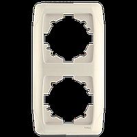 Двойная вертикальная рамка VIKO Carmen Крем (90572002)