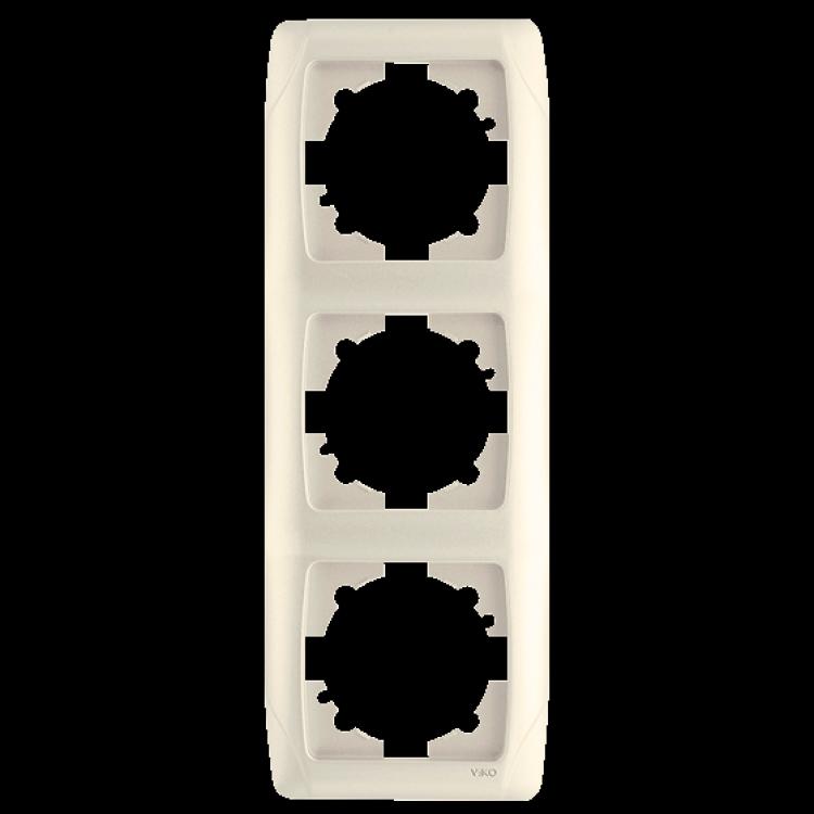 Тройная вертикальная рамка VIKO Carmen Крем (90572003)