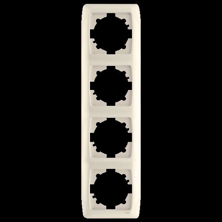 Четверная вертикальная рамка VIKO Carmen Крем (90572004)