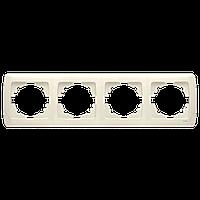 Четверная горизонтальная рамка VIKO Carmen Крем (90572104)
