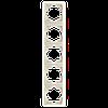 Пятерная вертикальная рамка VIKO Carmen Крем (90572005)