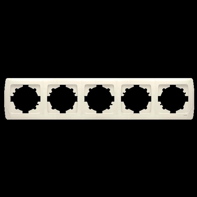 Пятерная горизонтальная рамка VIKO Carmen Крем (90572105)