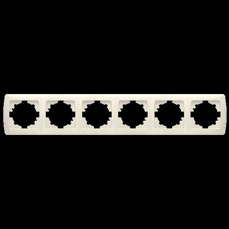 Шестерная горизонтальная рамка VIKO Carmen Крем (90572106)