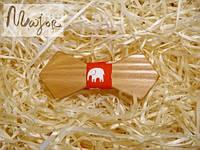 Детская деревянная бабочка Ретро красные слоники