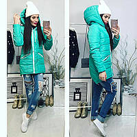 Куртка-парка зимняя, модель  204, мята