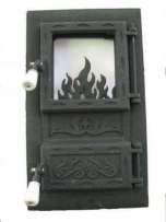 Дешевле нет!Дверцы(дверки) чугунные со стеклом для печи  Ромбик.Дверь печная.