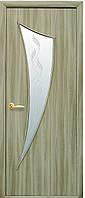 Дверь МОДЕРН ПАРУС экошпон, венге 3D, дуб жемчужный, кедр, сандал, ясень патна ( стекло сатин рис. Р3)