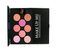 Профессиональная палитра румян 8 оттенков - Make Up Me H8