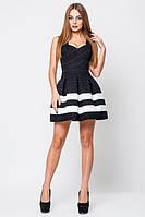 Эффектное черно-белое платье Грация   Leo Pride 42-44 размеры