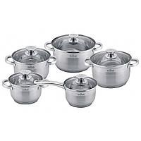 Набор  посуды из нержавеющей стали на 10 предметов MAXMARK MK-3510