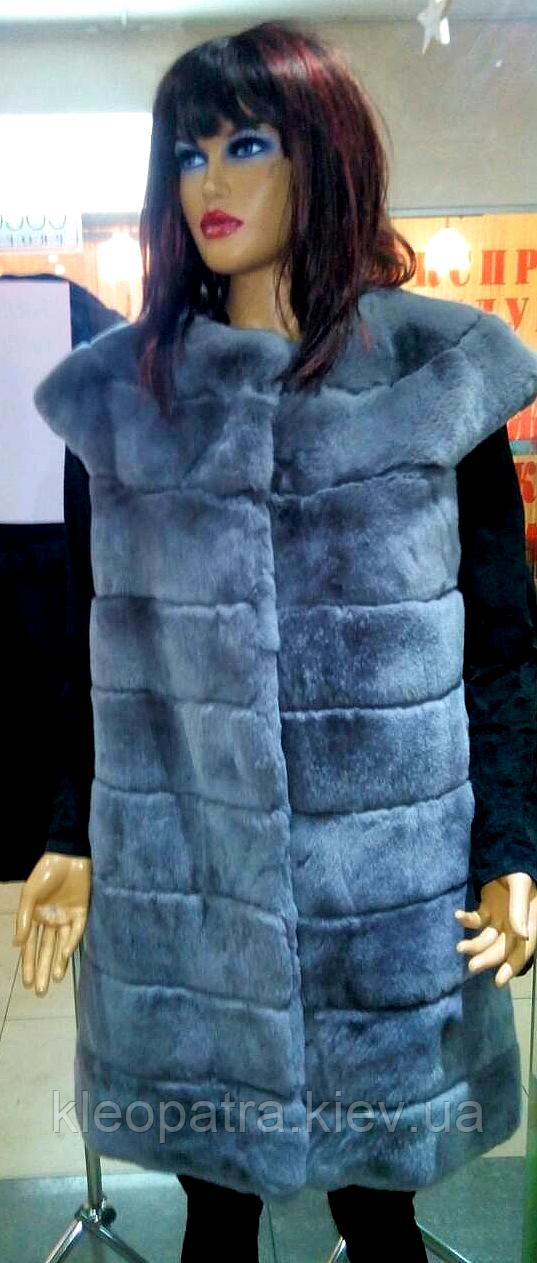 Шикарная жилетка женская из натурального меха бобра