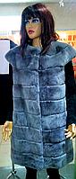 Шикарная жилетка женская из натурального меха бобрика
