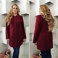 Пальто женское, модель  739/2, бордо