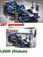 """Конструктор LEGO (Лего  Sluban) """"Формула 1 Гран-При"""" -  287 деталей. Длина машины 23 см."""