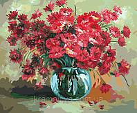 """Картина по номерам  """"Красный букет цветов"""", G299, 40х50см., фото 1"""