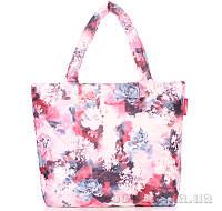 Дутая женская сумка Poolparty с принтом pp4-pink-frostwork