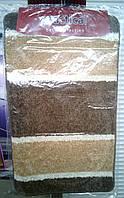 Коврики в ванную тройка беж с коричневым 90 см х 55 см