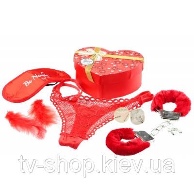 Подарочный набор с наручниками 5 в 1  Сердечко