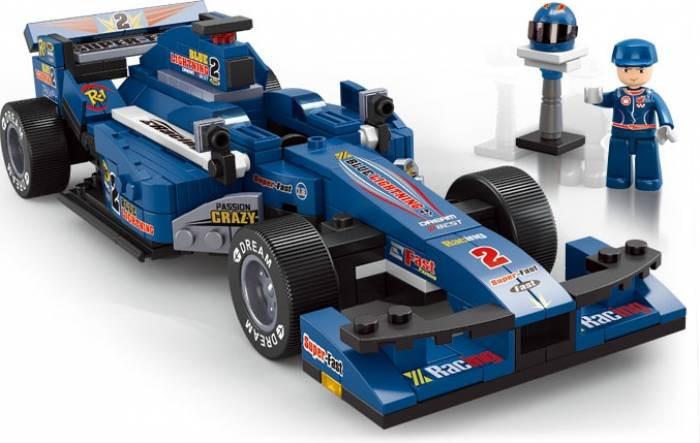 """Конструктор Лего (Lego Sluban) """"Автогонки"""" - 287 деталей."""