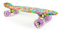 Скейт Джелли Белли/JellyBelly со Стилизованной Подвеской Светящийся / пенниборд скейт (penny board), скейтборд