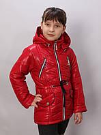 детская весенняя куртка  для девочки Машенька-весна коралл