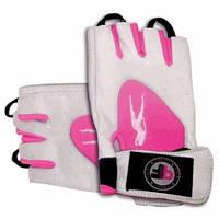 Biotech USA Lady 1 Gloves Leather White-Pink кожаные перчатки