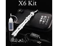 Электронная сигарета X6 Silver 1300mAh + Кейс