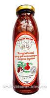 Соус из красной смородины с ягодами брусники