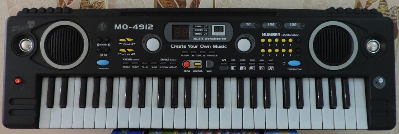 Синтезатор с LED дисплеем и микрофоном для пения и караоке. Функция звукозаписи.