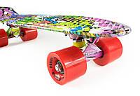 Круизер Пенни Борд Хип Хоп со Стилизованной Подвеской / пенниборд скейт (penny board), скейтборд