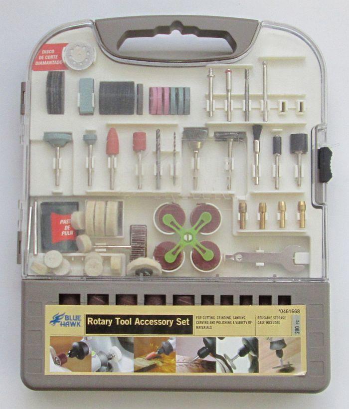 Набор насадок для гравера в футляре (200 предметов)