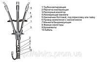 Муфта кабельная 3КНТп-1(70-120), 4КНТп-1(70-120), муфта концевая термоусаживаемая наружной установки.