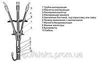 Муфта кабельная 3КНТп-1(150-240), 4КНТп-1(150-240), муфта концевая термоусаживаемая наружной установки.