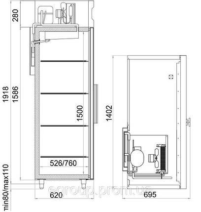 Шкаф холодильный Polair CM110-S, фото 2