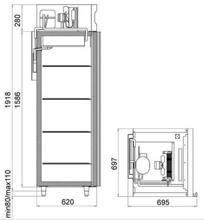 Шкаф холодильный Polair DM105-S, фото 2
