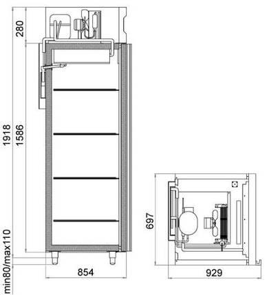 Холодильный шкаф polair dm107-s, фото 2