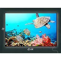 Картина с подсветкой Подводный мир 29х45