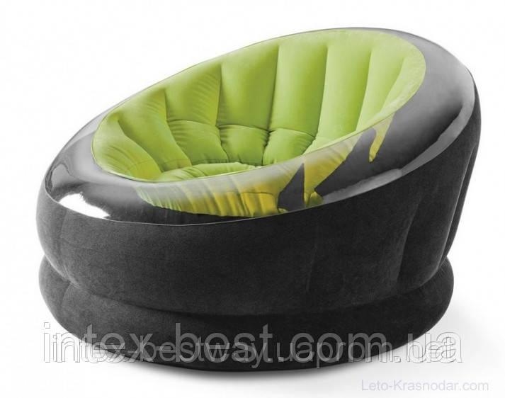 Кресло 112х109х69 см, EMPIRE CHAIR, Intex 68582NP Зелёное