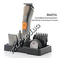 Многофункциональна машинка для стрижки триммер BIAOYA BAY-580 7-in-1 Rechargeable Grooming Kit с аккумулятором, фото 1