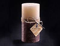 Свеча двухцветная Ванильно-шоколадная 160х80 мм круглая