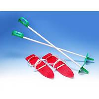 Лыжи с креплением и палками Marmat