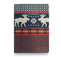 Обложка для паспорта Олени вязаные