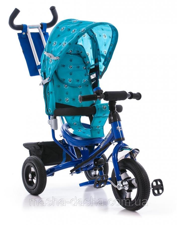 Детский трехколесный велосипед Azimut Trike  BC-17B голубой надувные колеса