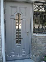Двери входные со стеклопакетом и ковкой, фото 3