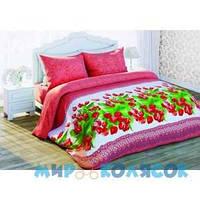 СОЛОДКИЙ СОН 3D Красные тюльпаны (Вид 1) двуспальное евро (310977)
