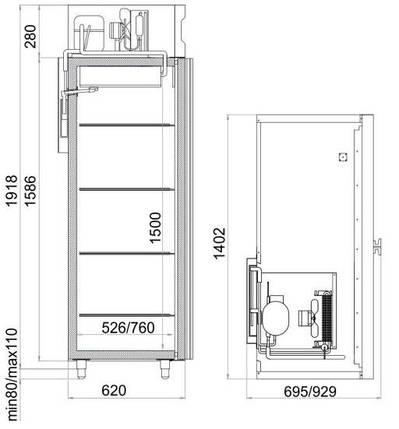 Комбинированный холодильник Polair CV110-G, фото 2