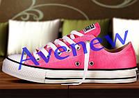 Кеды женские Converse розовые низкие, фото 1