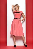 """Модное платье в стиле """"ретро"""" с коротким рукавом"""