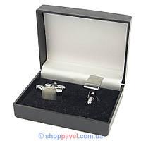 Запонки под серебро прямоугольные (Турция) 0150 С
